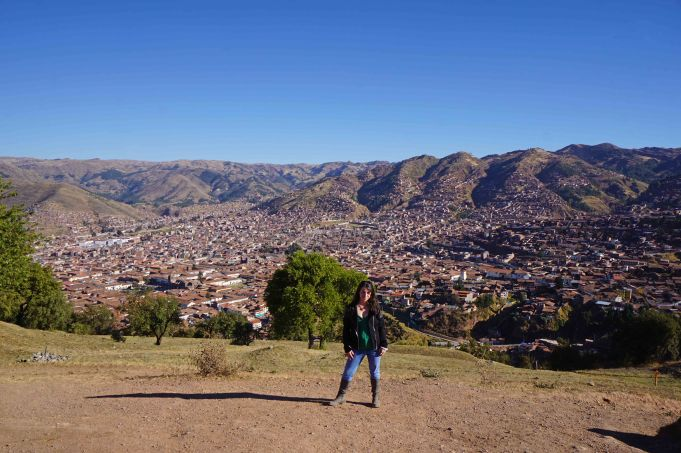 Standing above Cusco, Peru